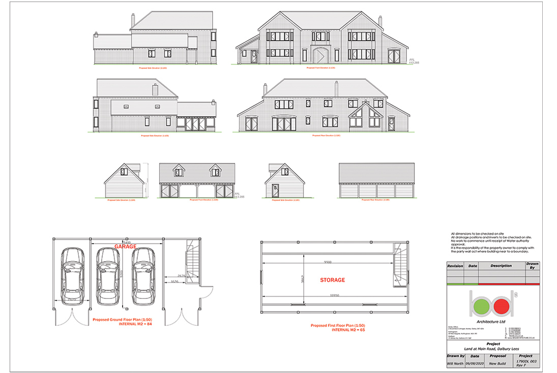 Dalbury Lees 5 bed House Plan Elevation